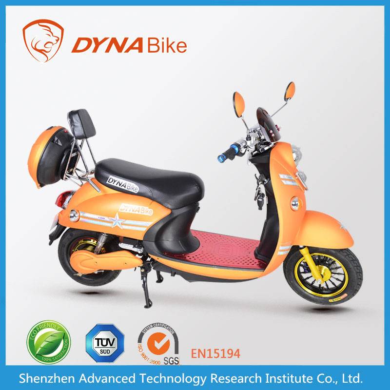 Elegant design new model 48v 500w motor scooter/electric hybrid bike for sale from DYNABike factory(China)