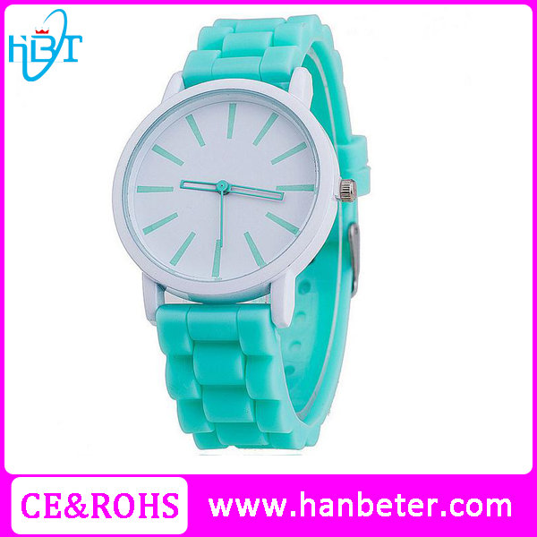 Promotional wholesale watches japan movt geneva silicone japan movement quartz watch sr626sw