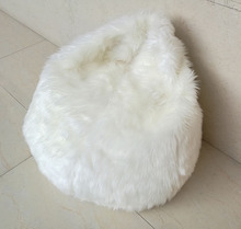 SZPLH Large Plush Funny Faux Fur Bean Bag Chair With Microbead Filling