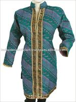 SHERWANI DESIGN WOMEN INDIAN KURTA KURTI SHIRT TOP