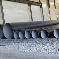SSAW steel pipe /HDPE coating anti-corrosion spiral steel pipe/tube