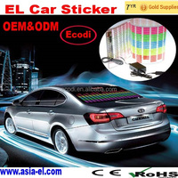 2016 new fashion hot selling sound activated el car sticker