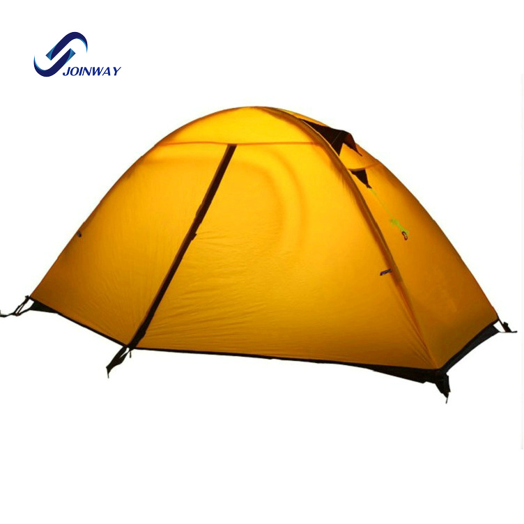 JWJ-037 Hot sale aluminum pole light hiking ultra light camping tents for sale