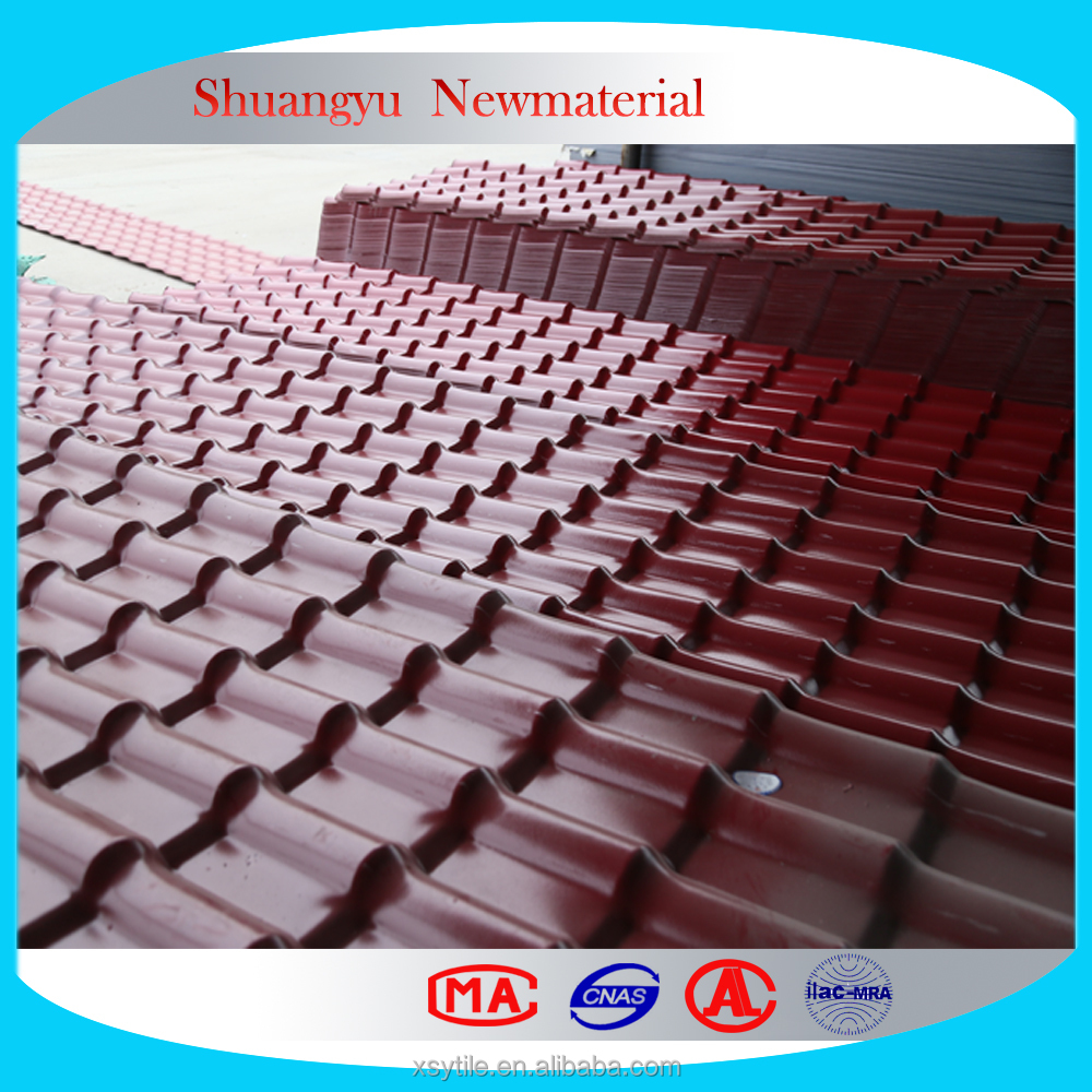 Heat Insulated Used Corrugated Roof Tile / Resin Roof Sheets Tile