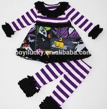 2016 halloween remake girl clothing cheap baby girl clothes sets baby ruffle pant outfit boutique