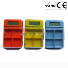Wholesale Christmas Gifts Popular 4 comparements Alarming pill box timer