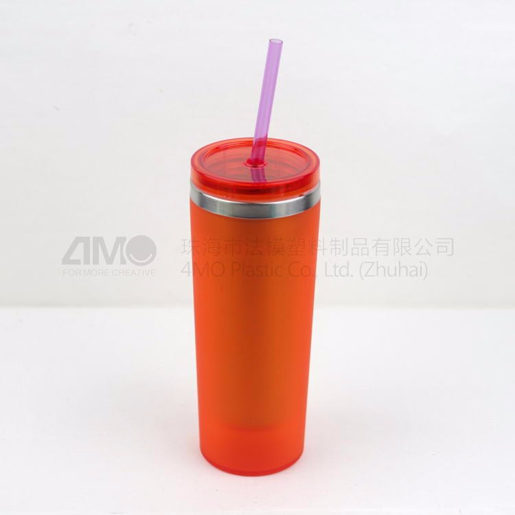 bpa free joyshaker cup, travel coffee stainless steel mug cup with straw