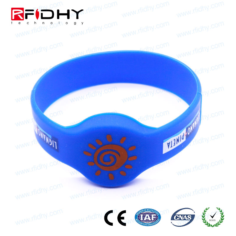 Access control PVC bracelet/ RFID wristband for hospital for swimming pool
