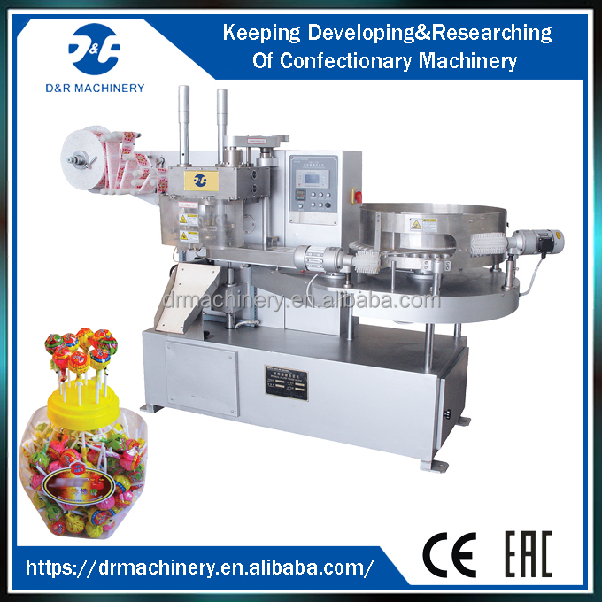 Candy wrapping machine 2.2kw, automatic lollipop wrapping machine