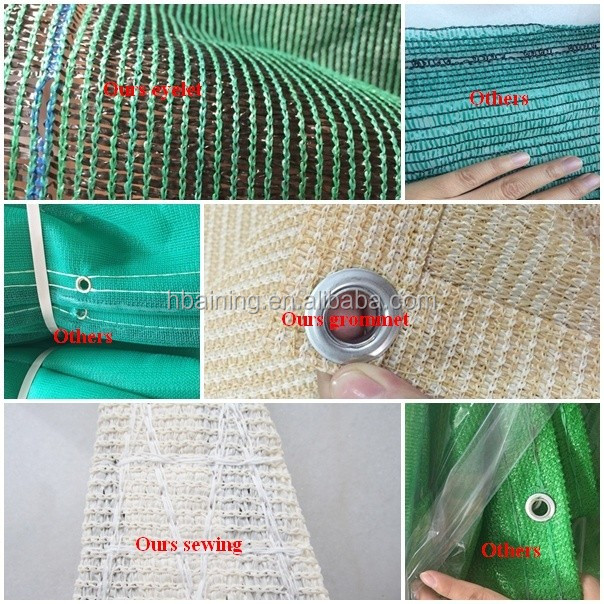 Agricultural Greenhouse HDPE Sun Shade Net with 100% Virgin Material and UV
