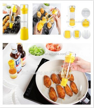 FDA passed top design high level flexible non-toxic silicone oil bottle with bbq brush