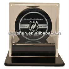 ACRYLIC SINGLE HOCKEY PUCK DISPLAY CASE CASEWORKS