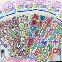 2015 POPULAR Letter STICKERS, 3D PUFFY STICKERS POP-UP STICKERS,PUFFY STICKER