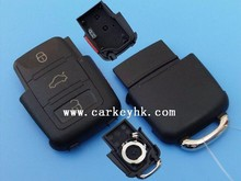 HOT Sale VW 3+Panic buttons remote case for Car Key Remote Covers car key Vw Remote Key Shell