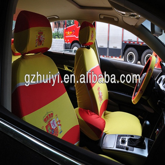 Promotional Flag Car Seat Covers Design