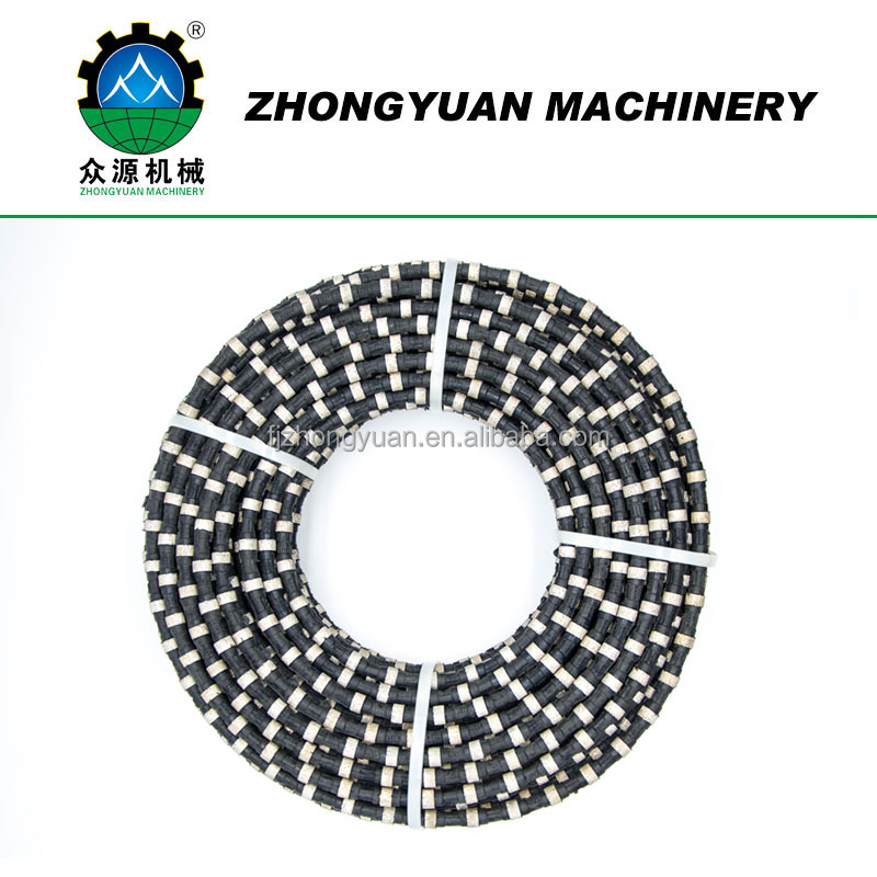 Diamond wire and wire saw for granite and marble stone cutting