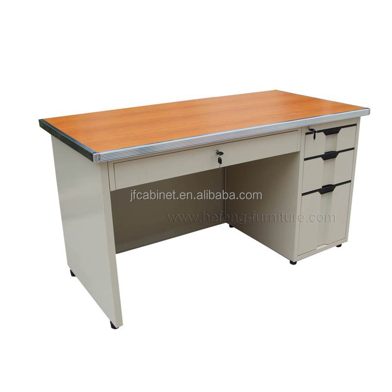 Cheap Office Used Side Drawers Steel Teacher Desk