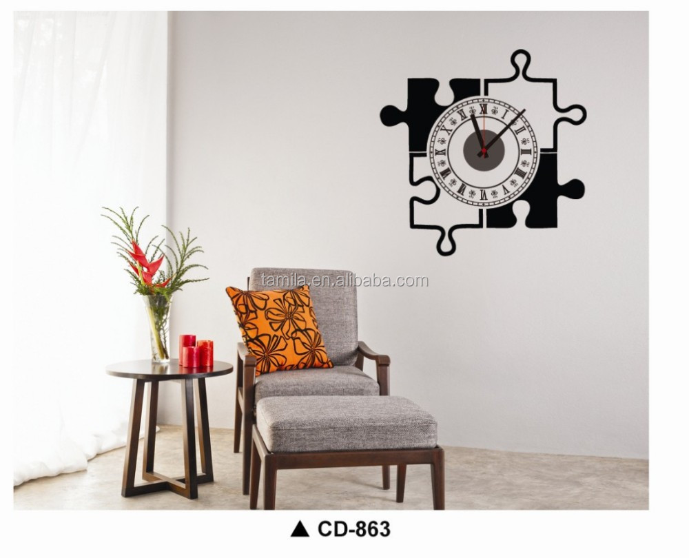 Puzzle game 3D Wall Sticker Clock