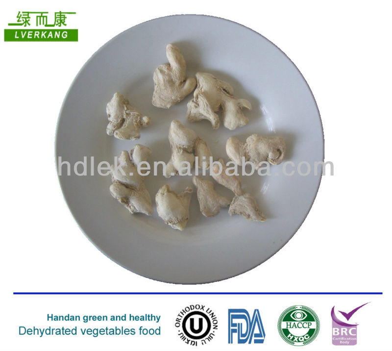 Dried Ginger Whole Peeled Dehydrated Ginger dry ginger pieces china organic