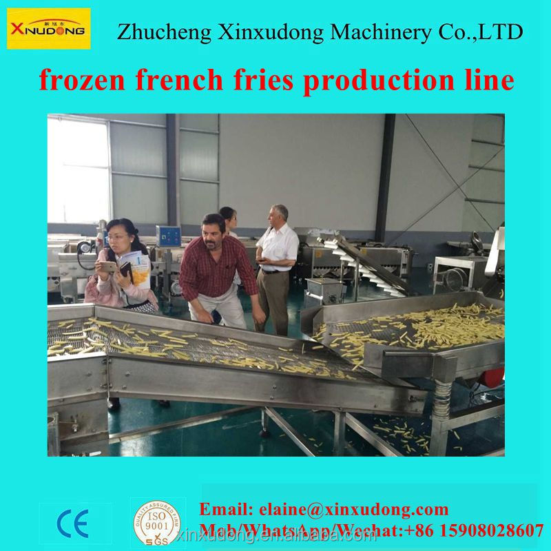 1000 frozen french fries making machine/french fries production line/potato machinery
