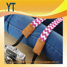 Custom Fashion Promotion Camera Neck Strap Slim Camera Strap - Pink Chevron for DSLR and Mirrorless Camera