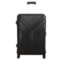 blue cheap hard cabin luggage case suitcase with four spinner wheels