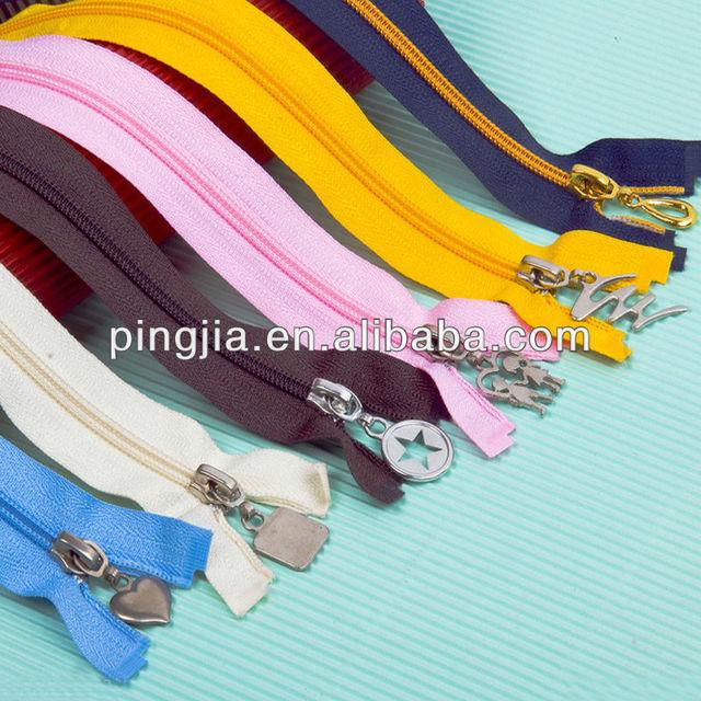 purple hoodie white color nylon Zipper,wholesale