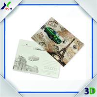 Custom 3D Lenticular Greeting Card, 3D Lenticular Postcard