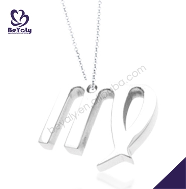 Fashion simple stainless steel alphabet charms