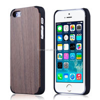 2015 Stylish oem custom pc+genuine bamboo wood phone case for iphone 5 5s case wood china wholesale
