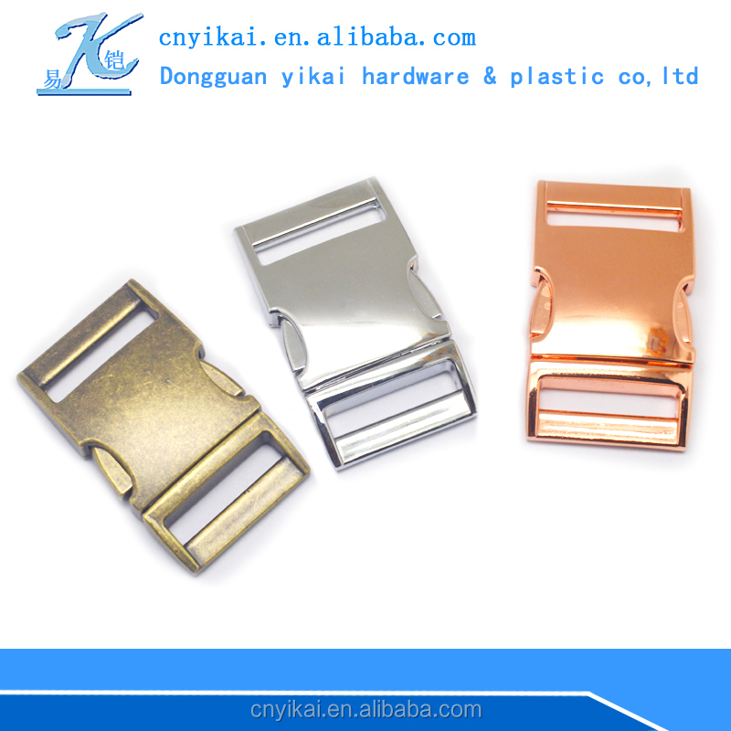 Yikai quick release zinc alloy metal buckle for bag dog collar high quality buckle