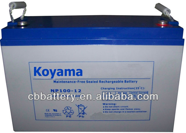 12V 100Ah AGM SLA Battery For UPS/Surge Protector