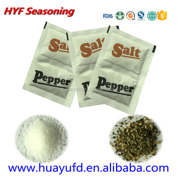 video showed spicy cooking condiment salt pepper sachet packing