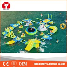Summer hot sale inflatable water floating playground for children