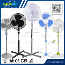 2018 FS40-3 GS CE ROHS OEM high quality motor 45W plastic cooling 16 inch cheap pedestal stand fan