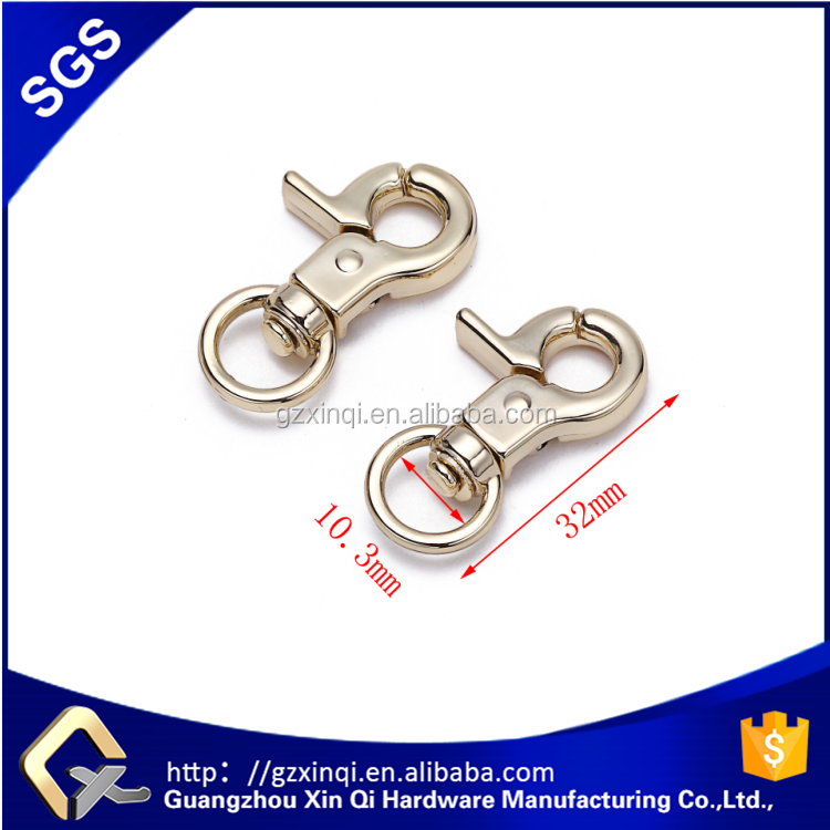 Promotion bag lobster clasp metal snap hook lobster clasp