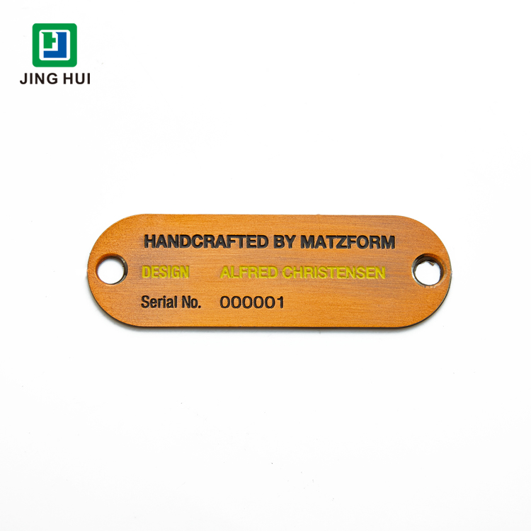 High Quality Custom Alloy Name Plate Tag Engraved Metal Logo