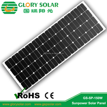 Hot RV Caravan Power Supply Semi-Flex Monocrystalline 150 Watt Solar Panel