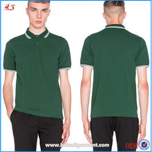 OEM Service Professional Supplier High Quality 100% Cotton Slim Fit Tipped Polo T Shirt for Men