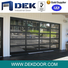 2018 hot sale automatic sectional overhead garage door with high quality window insert
