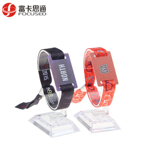 Custom Fabric Payment MIFARE Ultralight C Tag HF RFID Woven Wristband