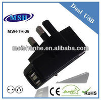 2.1A usb travel charger mobile power supply for tablet pc
