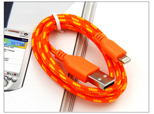 alibaba wholesale multi color Nylon braided usb cable usb data line for 5 / 5s / 6 / 6s