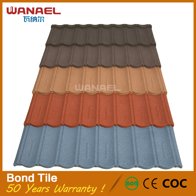 Roof tiles new french style hot selling colorful stone coated