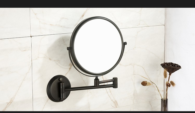 Bathroom Wall Adjustable Mirror Decorative European Round Vintage Magnifying Smart Mirror Orb