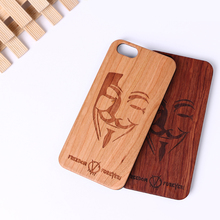 Mobile Phone Accessories,Real Solid Wooden Mask Phone Case For Iphone 6S Plus Plastic Hard Pc Material For Iphone 7 Wood Case
