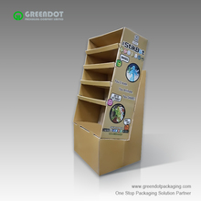 Supermarket advertising pallet cardboard paper plate display rack