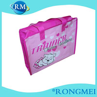pink cute pictures printing for kids non-woven shopping bag