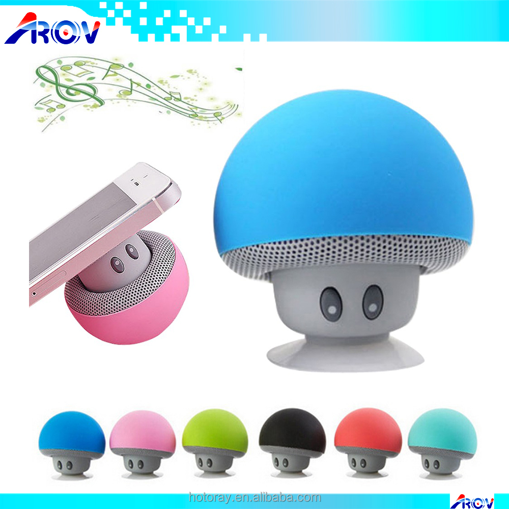 high quality mini Portable cute mushroom bluetooth speaker and bluetooth portable speaker for gifts