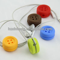 2013 new brand silicone earphone cable winder/clip/holder